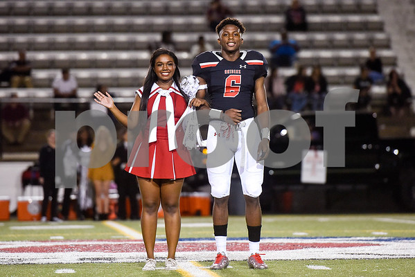Deja Cooks and Quin Allen of the Robert E. Lee homecoming court during a high school football game at Christus Trinity Mother Frances Rose Stadium at Tyler, Texas, on Friday, Oct. 20, 2017. (Chelsea Purgahn/Tyler Morning Telegraph)