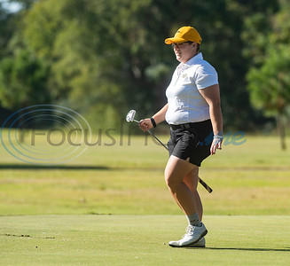 Tyler Junior College's Cece Niemietz walks off the green after sinking her putt during their golf tournament at Pine Springs Golf Club on Monday Oct. 21, 2019.  (Sarah A. Miller/Tyler Morning Telegraph)