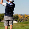 Seth Dykema of Longmont High School tees off during the second round of the Colorado High School Activities Association's 4A State Golf Championship at The Links at Cobble Creek in Montrose, Colo., Tuesday, Oct. 2, 2012.<br /> <br /> Photo by Barton Glasser