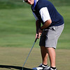 Seth Dykema of Longmont High School putts during the second round of the Colorado High School Activities Association's 4A State Golf Championship at The Links at Cobble Creek in Montrose, Colo., Tuesday, Oct. 2, 2012.<br /> <br /> Photo by Barton Glasser