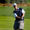 Seth Dykema of Longmont High School hits from the fairway during the second round of the Colorado High School Activities Association's 4A State Golf Championship at The Links at Cobble Creek in Montrose, Colo., Tuesday, Oct. 2, 2012.<br /> <br /> Photo by Barton Glasser