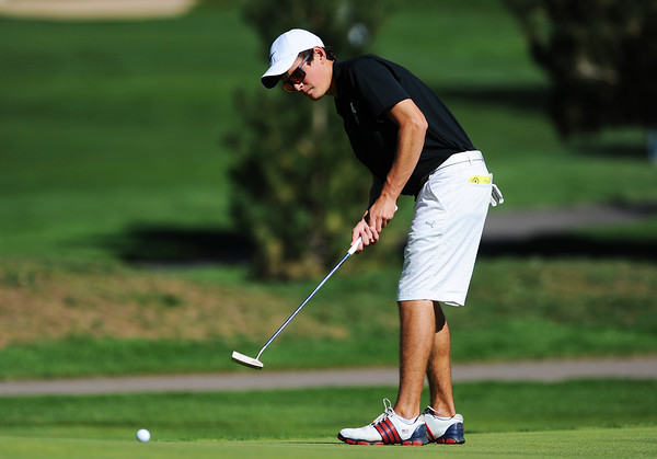 Alexander Dawson's Carson Jones putts at the 6th hole green during the 2012 CHSAA 3A State Championship held at Denver's Pinehurst Country Club on Tuesday, October 2, 2012. (Kira Horvath/Daily Camera)