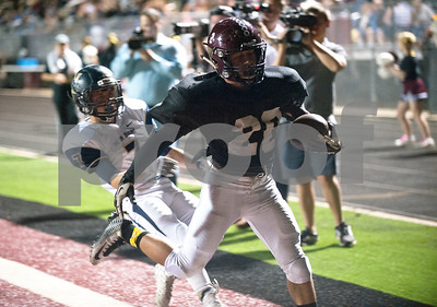Arp's Isaiah Baker (20) scores a touchdown in the first half of their game at home against New Diana Thursday night Oct. 22, 2015.  (Sarah A. Miller/Tyler Morning Telegraph)