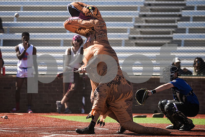 Game action during Tyler Junior College's halloween game at Mike Carter Field in Tyler, Texas, on Wednesday, Oct. 25, 2017. The team plays an annual halloween game in costume. (Chelsea Purgahn/Tyler Morning Telegraph)