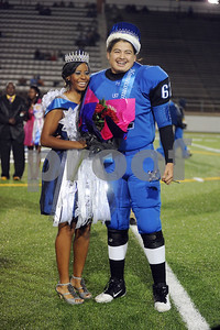 photo by Sarah A. Miller/Tyler Morning Telegraph  John Tyler High School Homecoming queen and king were marching band drum major senior Kiara Ross and football player senior Emmanuel Terrazzas.
