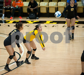 Tyler Junior College's Gysell Zayas bumps the ball during their volleyball game at home against Navarro College Wednesday Oct. 28, 2015.  (Sarah A. Miller/Tyler Morning Telegraph)