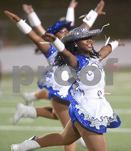 The John Tyler High School Brigadette captains perform during halftime of the football game Friday night against Mesquite Horn at Christus Trinity Mother Frances Rose Stadium.  (Sarah A. Miller/Tyler Morning Telegraph)