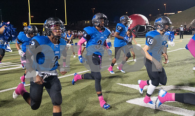 The John Tyler High School football team takes the field after halftime Friday night at Christus Trinity Mother Frances Rose Stadium.  (Sarah A. Miller/Tyler Morning Telegraph)