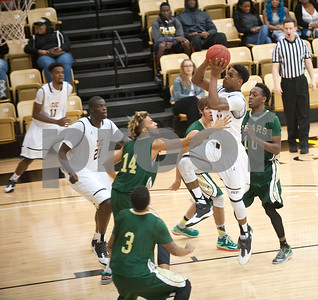 Tyler Junior College's Ronnie Stacy runs up for a basket in the first period of their basketball game against Brookhaven College Friday Oct. 30, 2015 at Wagstaff Gymnasium.  (Sarah A. Miller/Tyler Morning Telegraph)