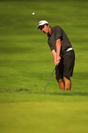 S1003GOLF12.jpg S1003GOLF12<br /> Monarch's Jackson Elliot during the State Class 5A Golf Finals in Golden, Colorado on Tuesday, October 2nd, 2012.<br /> <br /> Photo by: Jonathan Castner