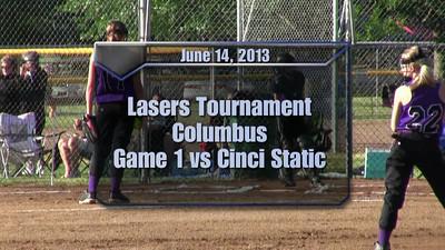Lasers Tournament vs Cinci Static June 14