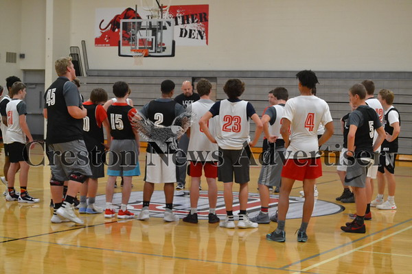 11-14 Creston boys basketball and wrestling practice