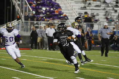 Connally's LaDaedrix Payton makes a touchdown run against Montgomery in the first round of the Division 1 playoffs Friday at Cougar Stadium.