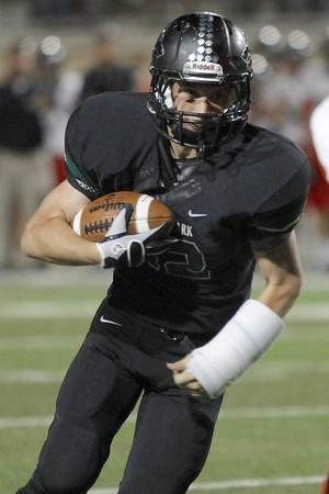 Cedar Parks Stoney Schoenfel makes a run against Vista Ridge Friday at Gupton Stadium.