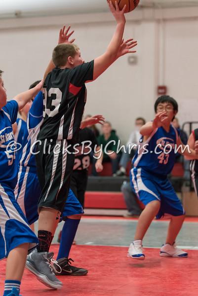Conference Tournament - Boys 5-6 Grade Basketball - Montmorency vs St. Mary's - November 24, 2014