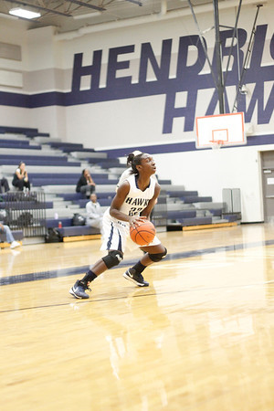Hendrickson's Kaila Anthony lines up a shot against Connally at Hendrickson High School on Tuesday.