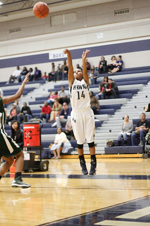 Hendrickson's Kiana Martin launches a 3-pointer against Connally at Hendrickson High School on Tuesday.