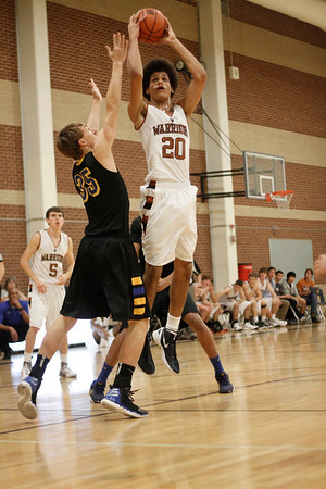 Westwood's Jon Jones takes a shot against Anderson at the McNeil Classic on Thursday.