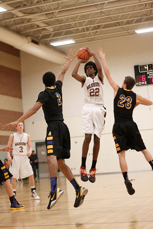 Westwood's Dalan Ancrum takes a shot against Anderson at the McNeil Classic on Thursday.