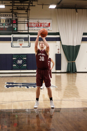 Round Rock's Chase McGraw takes a free throw against Midland at the McNeil Classic on Thursday.