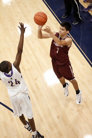 Round Rock's Rodrigo Rosales takes a shot against Midland at the McNeil Classic on Thursday