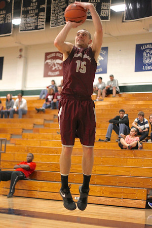 Round Rock's Andy Schultz takes a shot against Midland at the McNeil Classic on Thursday