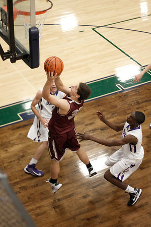 Round Rock's Chase McGraw takes a shot against Midland at the McNeil Classic on Thursday