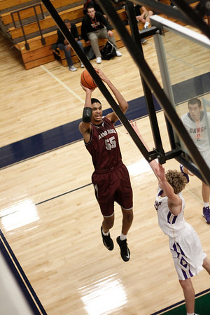 Round Rock's Leonard Allen takes a shot against Midland at the McNeil Classic on Thursday.