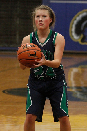 Scarlett Smith attempts a free throw against Austin Anderson Tuesday at Anderson High School.