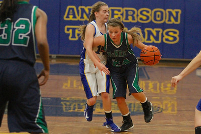 Scarlett Smith drives past a defender against Austin Anderson Tuesday at Anderson High School.