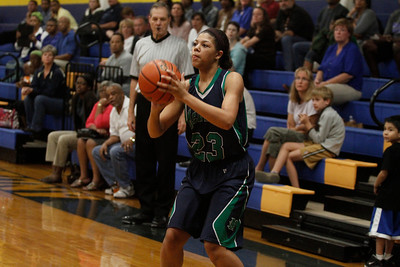 Karissa Black lines up a shot against Austin Anderson Tuesday at Anderson High School.