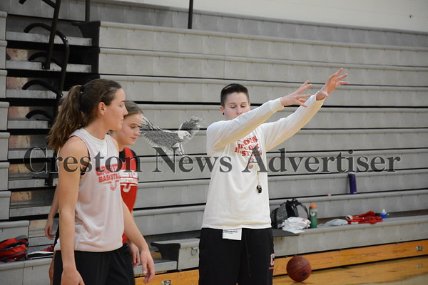 11-7 Creston girls basketball practice