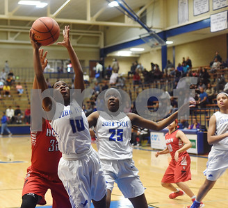 John Tyler's Shay Johnson goes for the rebound as the Lady Lions play Mesquite Horn at home Tuesday Jan. 10, 2017.  (Sarah A. Miller/Tyler Morning Telegraph)