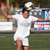 Bay's Autumn Meisenburg takes a kicked ball off of her head.  Randy Meyers -- The Morning Journal