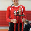 Elyria's Jessie Lee was awarded the 2016 Lorain County Miss Volleyball award on Nov. 16 during the All- Star game. Randy Meyers --  The Morning Journal
