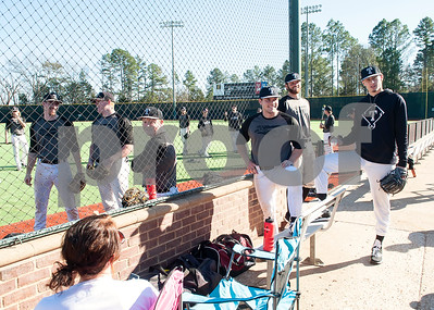 The Tyler Junior College baseball team uses the brand new turf at Mike Carter Field Tuesday Jan. 12, 2016. The baseball team started their first season practices this week.   (Sarah A. Miller/Tyler Morning Telegraph)