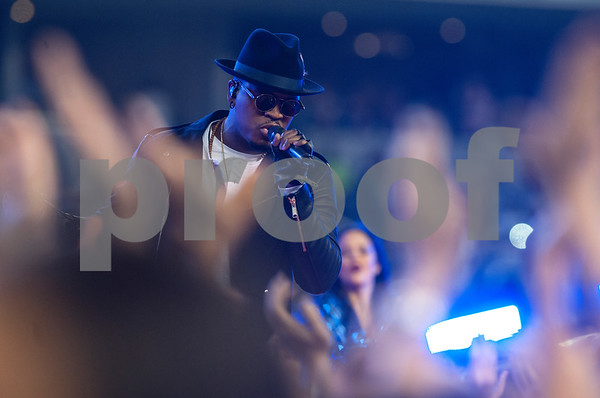 photo by Sarah A. Miller/ Tyler Morning Telegraph  Musical artist Ne-Yo performs during the halftime show at the Dallas Cowboys football game Thursday Nov. 27, 2014 at AT&T Stadium in Arlington.