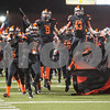 Gilmer football players take the field for their game Friday night against Center Nov. 27, 2015 at Trinity Mother Frances Rose Stadium in Tyler.<br /> <br /> (Sarah A. Miller/Tyler Morning Telegraph)