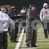 Gilmer's coach Matt Turner, center, watches from the  sidelines during their game against Center Friday night Nov. 27, 2015 at Trinity Mother Frances Rose Stadium in Tyler.<br /> <br /> (Sarah A. Miller/Tyler Morning Telegraph)