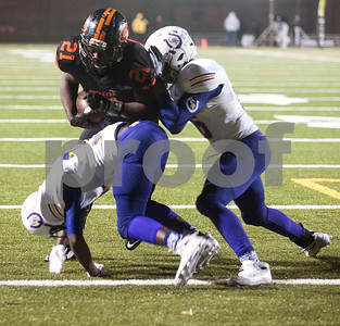 Gilmer's (21) Kelton Collier makes a touchdown run in the first half of their game against Center Friday night Nov. 27, 2015 at Trinity Mother Frances Rose Stadium in Tyler.  (Sarah A. Miller/Tyler Morning Telegraph)