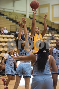 Tyler Junior College basketball player Jakieya Morgan shoots a basket during their game at home against Coastal Bend College Wednesday Nov. 29, 2017.  (Sarah A. Miller/Tyler Morning Telegraph)