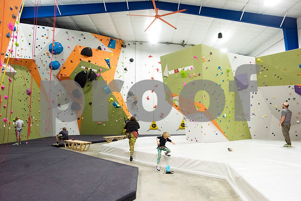 The Tyler Rock Gym in Tyler, Texas, on Wednesday, Nov. 29, 2017. The new gym features up to 32-foot high walls, 12 auto belays, youth programs, bouldering and classes for beginners and seasoned climbers alike. (Chelsea Purgahn/Tyler Morning Telegraph)