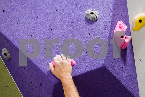 Drew Martin climbs at the Tyler Rock Gym in Tyler, Texas, on Wednesday, Nov. 29, 2017. The new gym features up to 32-foot high walls, 12 auto belays, youth programs, bouldering and classes for beginners and seasoned climbers alike. (Chelsea Purgahn/Tyler Morning Telegraph)