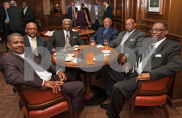 Members of Custom Truckers, a group that Earl Campbell is a member of, are pictured at the Earl Campbell Tyler Rose Award banquet Wednesday Jan. 13, 2016 at Willow Brook Country Club in Tyler, Texas. The Earl Campbell Tyler Rose Award recognizes the top offensive player in Division I football who also exhibits the enduring characteristics that define 1977 Heisman Trophy winner Earl Campbell: integrity, performance, teamwork, sportsmanship, drive, tenacity and community.   (Sarah A. Miller/Tyler Morning Telegraph)