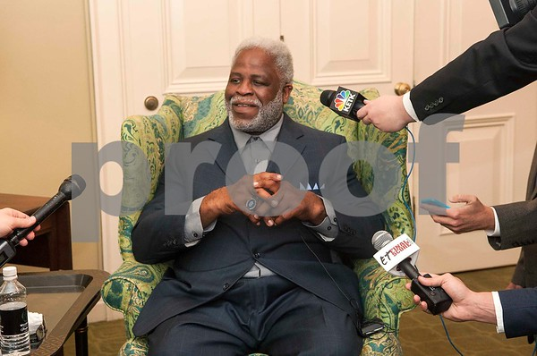 Earl Campbell is interviewed by several media outlets during the Earl Campbell Tyler Rose Award banquet Wednesday Jan. 13, 2016 at Willow Brook Country Club in Tyler, Texas. The Earl Campbell Tyler Rose Award recognizes the top offensive player in Division I football who also exhibits the enduring characteristics that define 1977 Heisman Trophy winner Earl Campbell: integrity, performance, teamwork, sportsmanship, drive, tenacity and community.   (Sarah A. Miller/Tyler Morning Telegraph)
