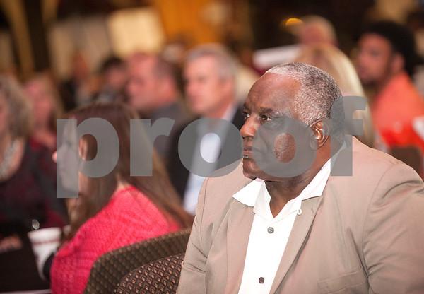 Former John Tyler football coach Allen Wilson attends the American State Bank Player of the Year awards banquet Thursday Jan. 14, 2016 at KE Bushman's Celebration Center in Bullard.   (Sarah A. Miller/Tyler Morning Telegraph)