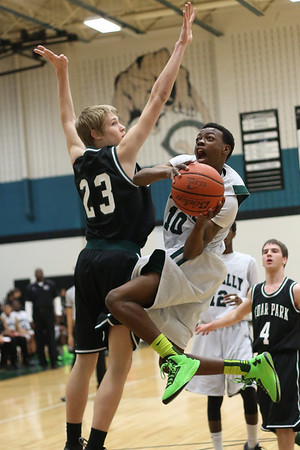 Connally's  Latreal Limuel  takes a shot against Cedar Park at Connally High School on Tuesday.