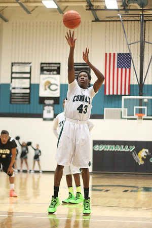 Connally's  Ishmael Donzo takes a free throw against Lanier at Connally High School on Monday.