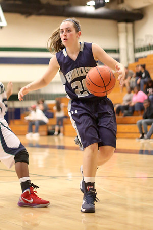 Hendrickson's Sarah Simpson controls the ball on a dribble against McNeil Monday at  McNeil High School.