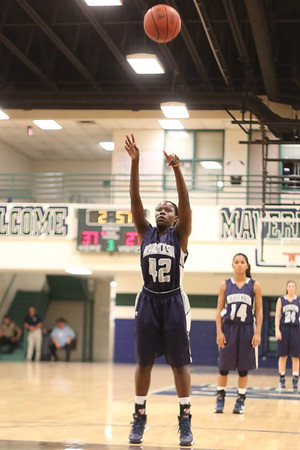 Hendrickson's Jakira Rogers  takes a free throw against McNeil Monday at  McNeil High School.